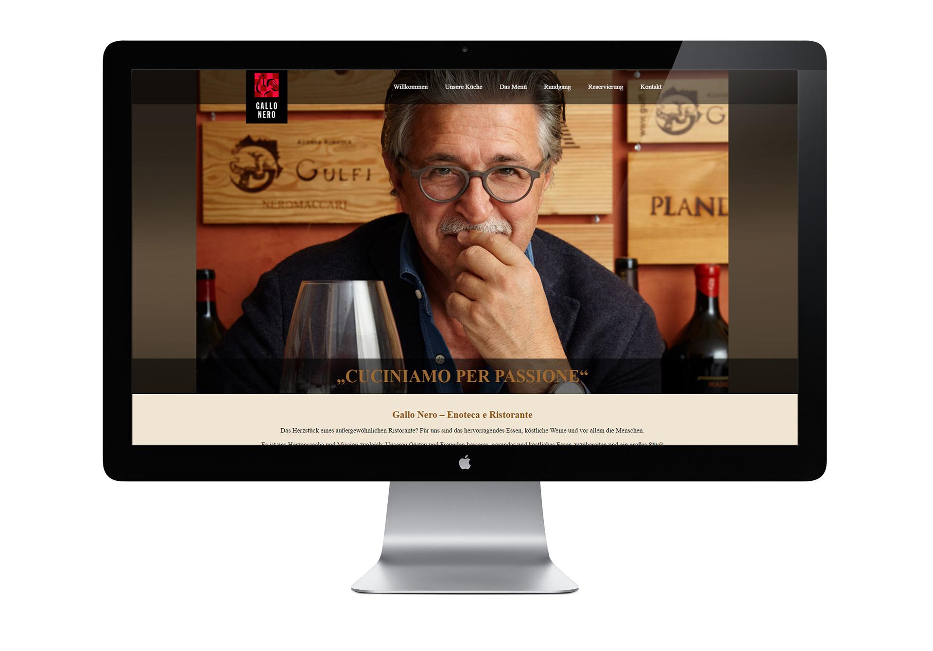 Website mit CMS für das GALLO NERO - designt und programmiert von der Werbeagentur SchwarzWestphal in Dömitz