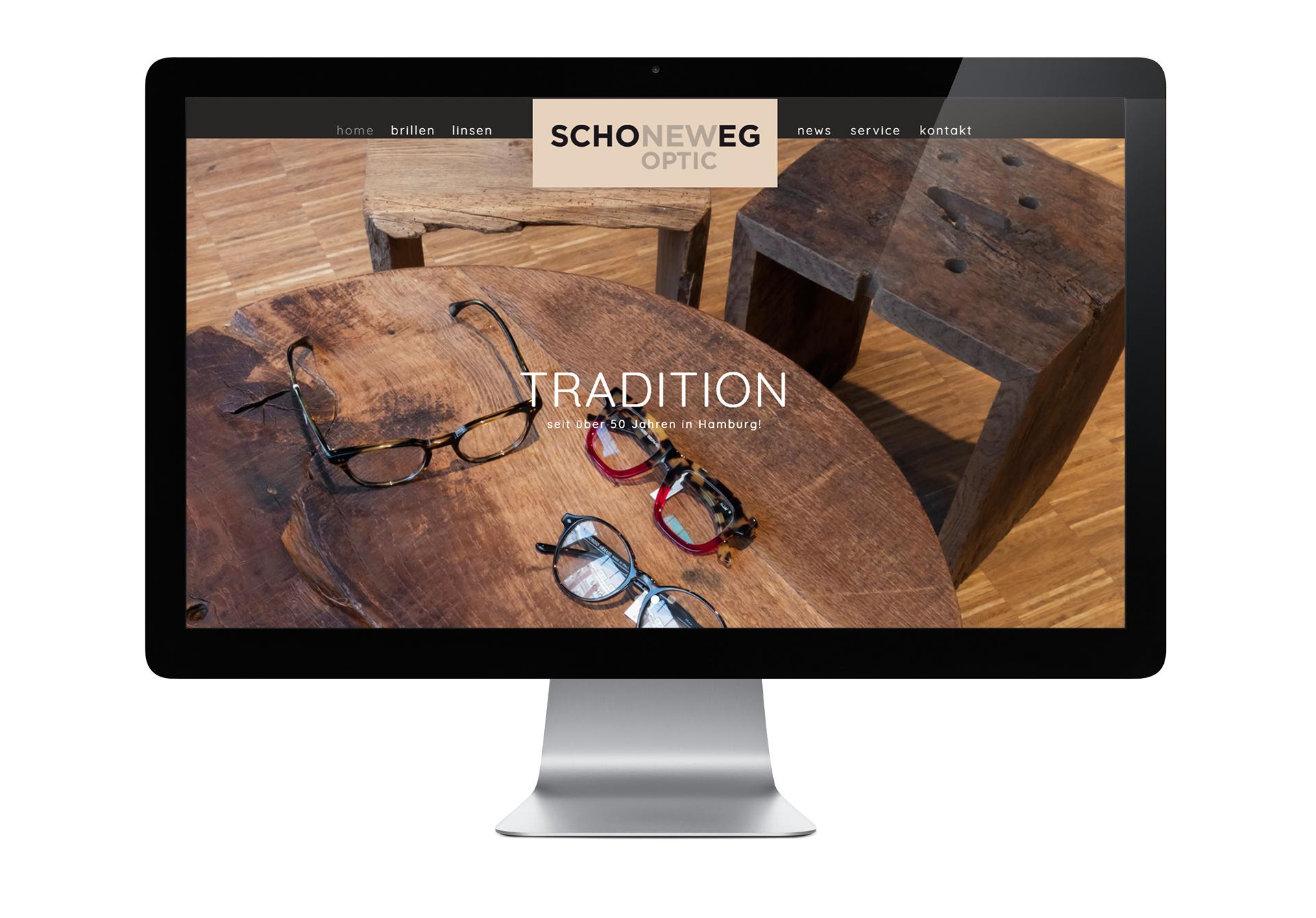 Technische Umsetzung der Website von Schoneweg Optic